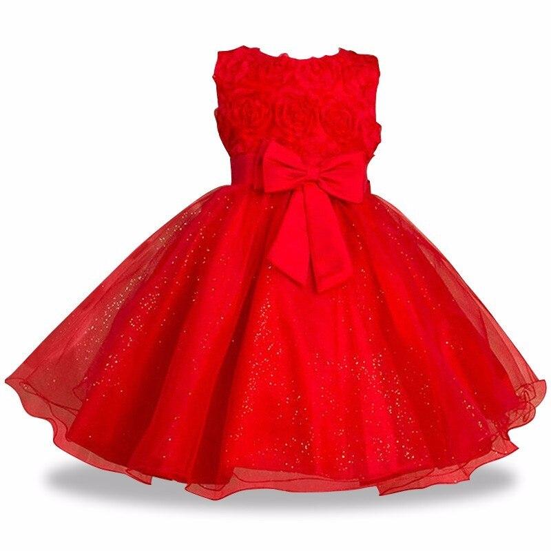 girls dress-red