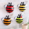 4 Colors Cute Suction Hook Tooth Brush Rack New Ladybug Cartoon Sucker Toothbrush Holder,Accessories Bathroom Suction Cup Tool