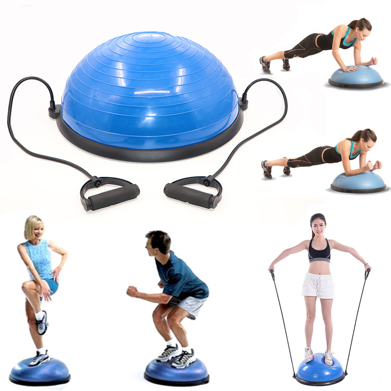 Customized PVC Gym Bosu Ball Yoga Fitness Shaping Balance Ball With Massage dots yoga fitness half bosu balance yoga ball bo speed ball