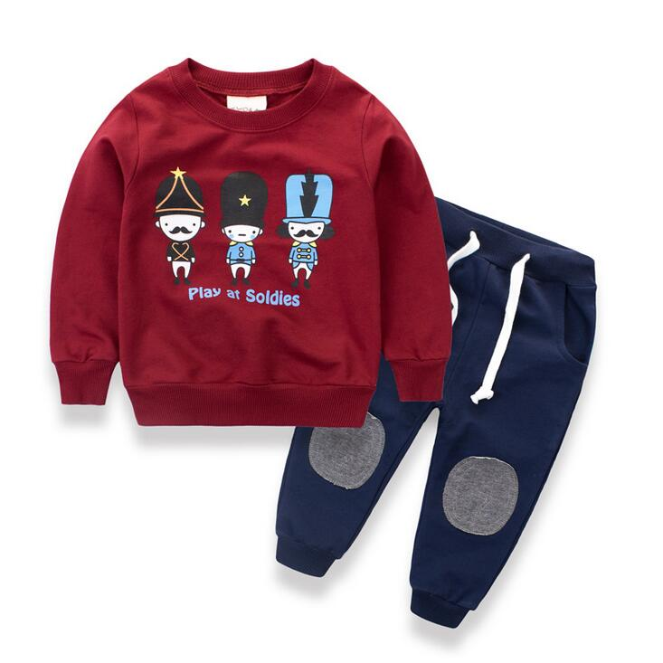 Autumn Girls boys Clothing Sets Active Clothes Children Cartoon Print outfits Sweatshirts T shirt + Pants For 2 4 6 8 10 Years 2 10 years boys girls clothes minions boys t shirts spring autumn children hoodies cartoon kids clothes casual boys t shirt hot