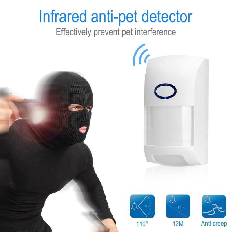 VODOOL Outdoor Waterproof Wireless PIR sensor Infrared Motion Detector 433Mhz Pet Lmmune Anti-Pet for Home Security Alarm System