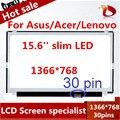 """Бесплатная доставка 15.6 """"Ноутбук ЖК-Экран Для ASUS X550LB X550LC X550LD X550LN X550VB X550VC СВЕТОДИОДНАЯ Панель Матричный eDP Тонкий"""
