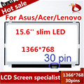 "Envío libre 15.6 ""pantalla lcd del ordenador portátil para asus x550lb x550lc x550ld x550ln x550vb x550vc led matriz de panel edp delgado"