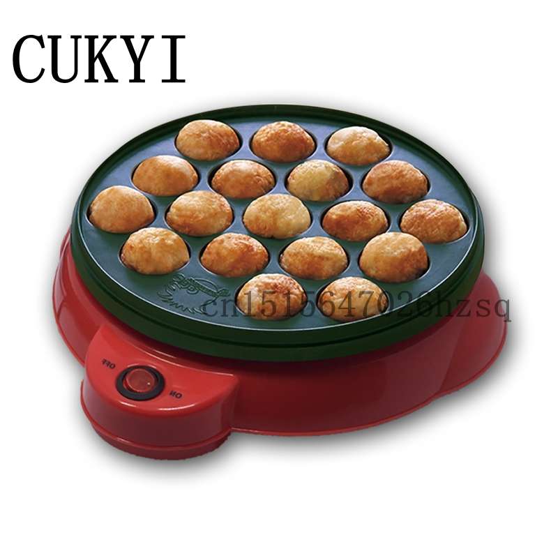 CUKYI Exported Professional Octopus Ball Maker Takoyaki Machine 650W 220V 18 holes Grill Mold Burning Plate DIY Cooking Tools 84 balls fried octopus dumplings grill machine japanese yakitori takoyaki gas griddle cooking octopus ball