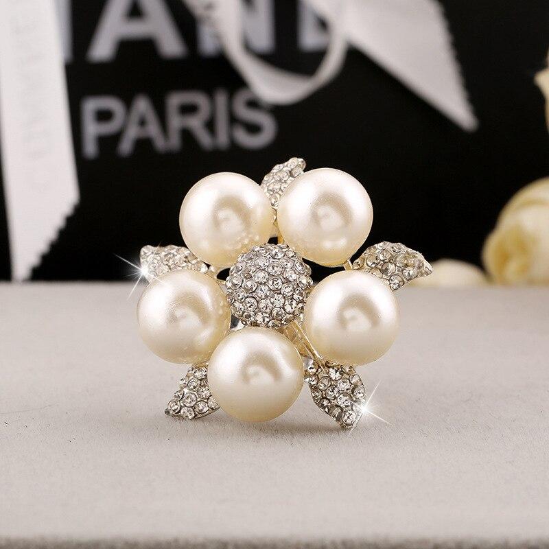 Rainbery Silver Pearl Rings  5