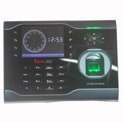 ZK Haute-Vitesse 3.5 Pouce TFT 10000 Empreintes Digitales et 125 KHz Carte RFID Temps de Présence Terminal TCP/IP D'empreintes Digitales Temps participation