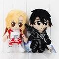 Sword Art Online SAO Plush Toy Kirito Asuna Soft Stuffed Doll Kirigaya Kazuto Kids Toys Free Shipping 2pcs/lot