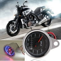 Automobile Motorcycle Styling Cool LED Light Universal Odometer Speedometer Meter For Motorcycle Km H High Quality