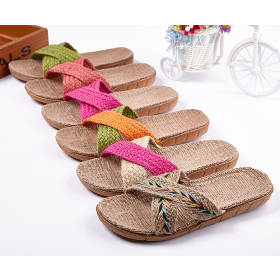 New Summer Bedroom Slipper Women Bathroom Home Slippers Weman 14 Color Casual Plus Size Beach Flat Shoes Ladies House Slippers men s and women s bathroom slippers summer bathhouse slippers eva hotel slippery wear resisting couples cross belt slipper
