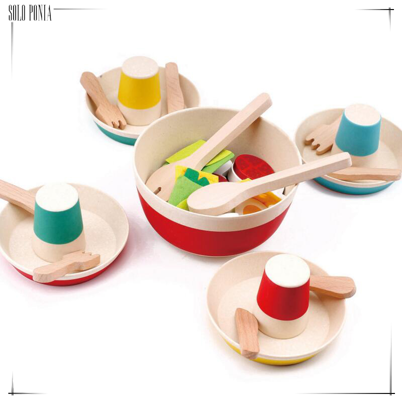Wooden toy wood baby birthday gift dinner cooking eating kitchen play house Toys and Hobbies Pretend Play Kitchen Toys eating disorders