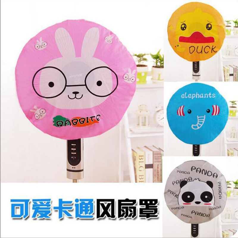 Cute Cartoon Fan Cover All-inclusive Round Cover Electric Fan Dust Cover Cute Characters Panda Duck Rabbit Elephant Cover