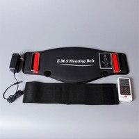 Массажный пояс для похудения Тепло Электрический импульсы Тон брюшной стимулятор мышц EMS Акупунктура десятки физиотерапия миостимулятор