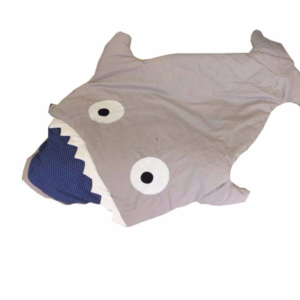 Новорожденного спальный мешок Акула Форма спальный мешок коляска зима кровать пеленать Одеяло Обёрточная бумага спальный мешок