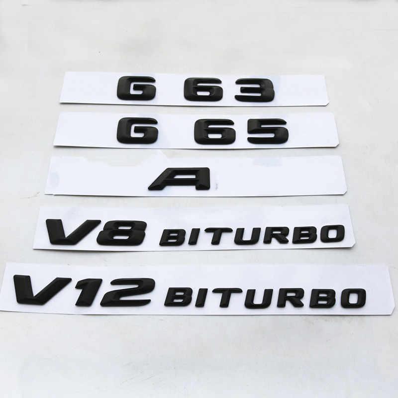Badge numéro arrière de coffre et de voiture | Étiquette noire G63, pour Mercedes Benz W176 AMG série A G C, accessoires