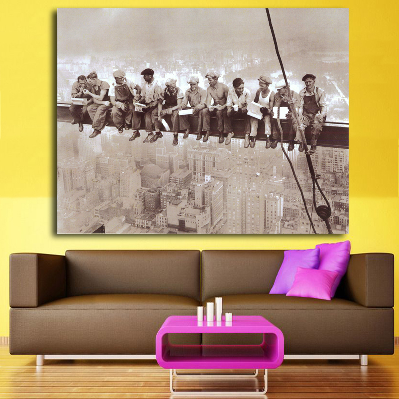 Pop Culture Skyscraper on the roof of the lunch Art Silk Poster Print Deadpool Wall Picture prints oil painting free shipping