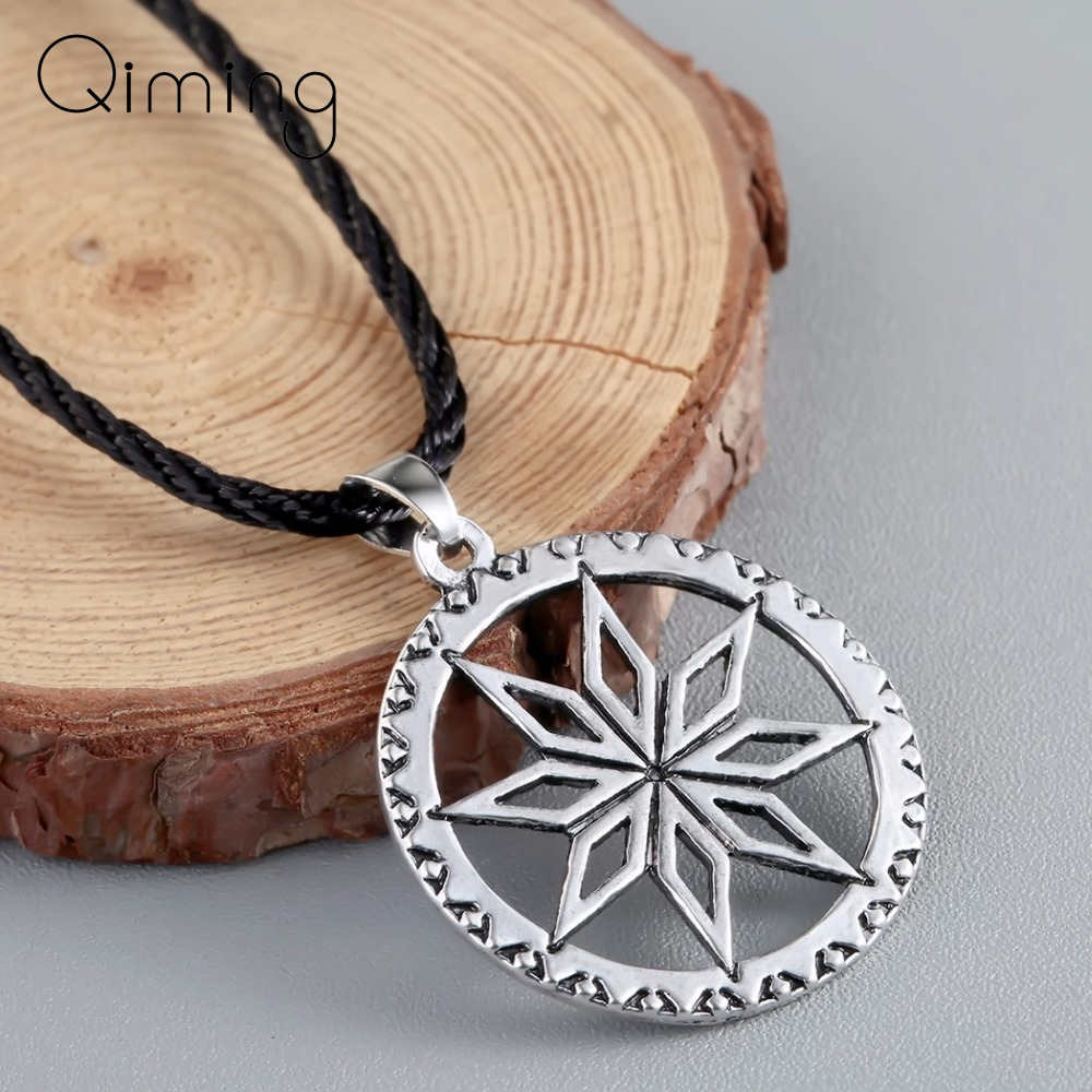 Alatyr Slavic Pendant Necklace Perun Protect God Runes Family Success <font><b>Sun</b></font> Good Handcrafted Norse <font><b>Jewelry</b></font> Women Necklace Men image
