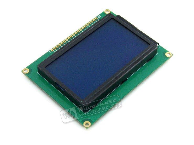 3,3 В 12864 Графический ЖК-модуль с 128x64 точек и ST7920/ST7921 IC TN/STN Синяя подсветка белый Характеристика 3.3v для логической схемы
