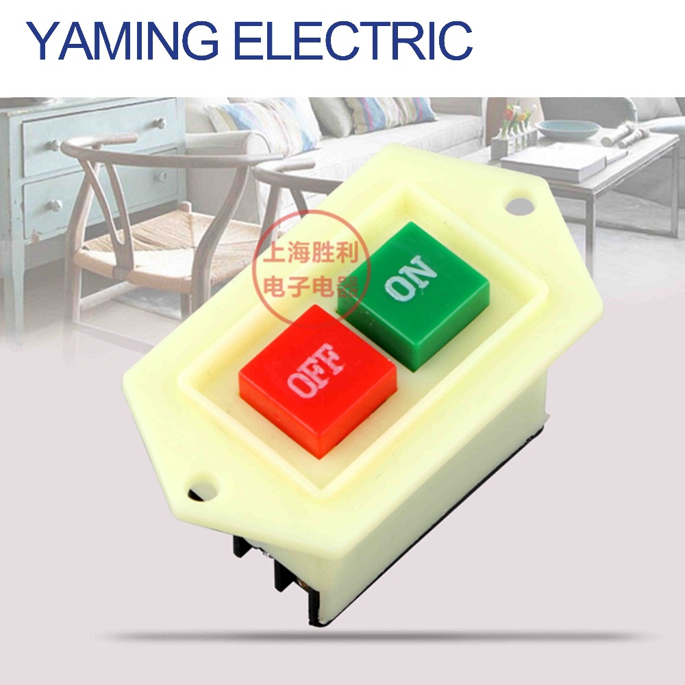 P101 Bench drill Starter button switch LC3-10 380V 10A grinding wheel cutting machine sawing machine Meat grinder switch