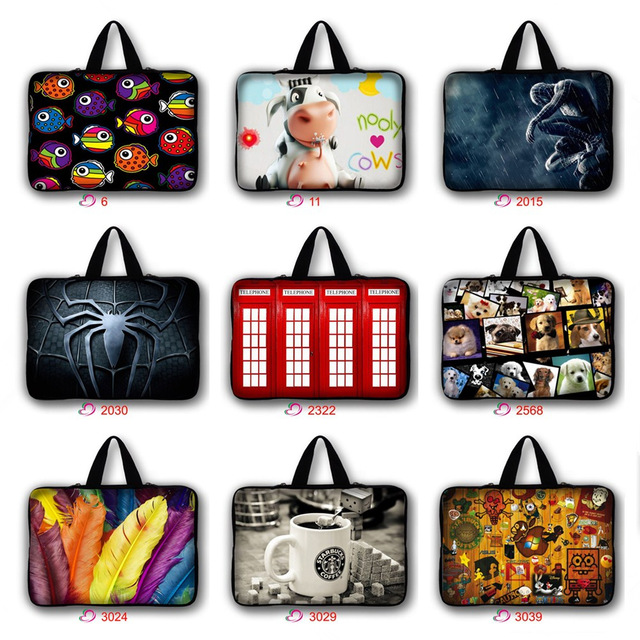 7 10 11.6 13 14 15.4 15.6 17.3 17 inch Cute Pug Cat spiderman Laptop Bag Notebook sleeve Case Cover For Macbook HP Asus Dell
