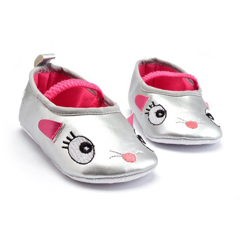 0-12 м малыш девушки милые Обувь с рисунком из мультфильмов Prewalker из мягкой искусственной кожи кроватки обувь Лучшая цена 2018 ...