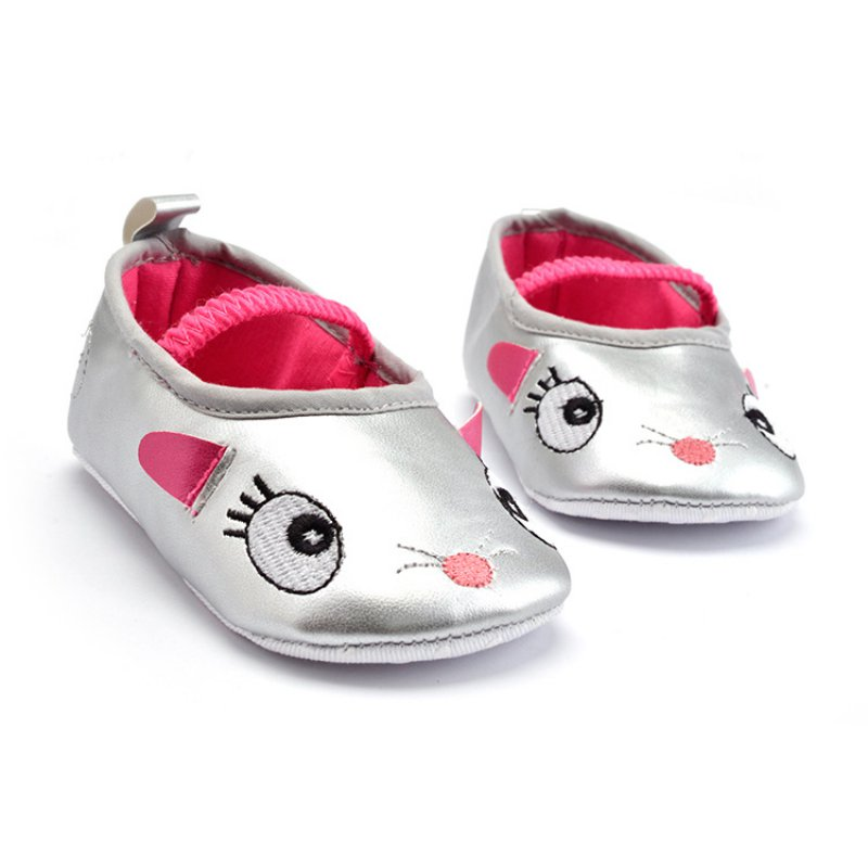 0-12M Baby Toddler Girls Cute Cartoon Shoes Prewalker Soft PU Leather Crib Shoes Best Price 2018