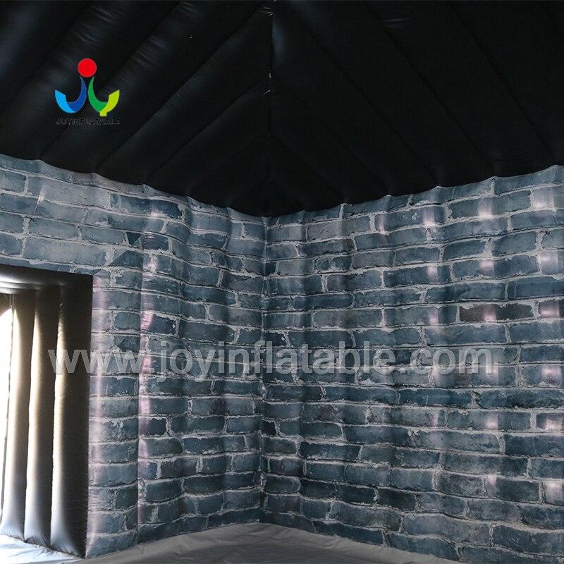 Надувная палатка черного цвета со светодиодной подсветкой для вечеринки - 4