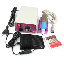 Professional Pro 220V Electric Manicure Machine Set Nail Art File Kit Drill Pen Pedicure Polish Shape Tool Set