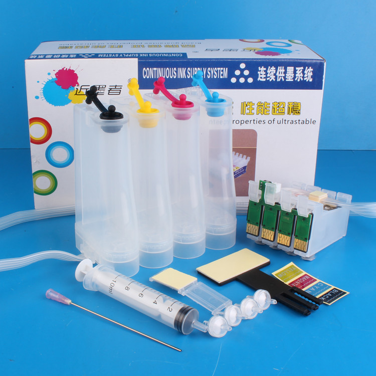 Universal 4Color Continuous Ink Supply System CISS kit with full accessaries <font><b>bulk</b></font> ink tank for EPSON XP-202 XP202 XP-302 Printer image
