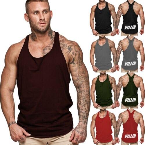 Men Gym Muscle Shirt Tank Top Sport Bodybuilding Stringer Fitness Athletic Vest