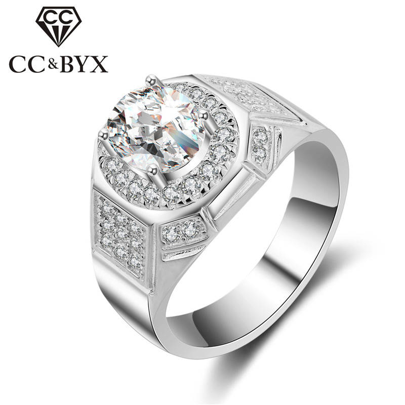 CC Rings For Men S925 Silver Luxury Love Promise Bijoux Gentleman Bridegroom Wedding Jewelry Engagement Ring Drop Shipping CC682