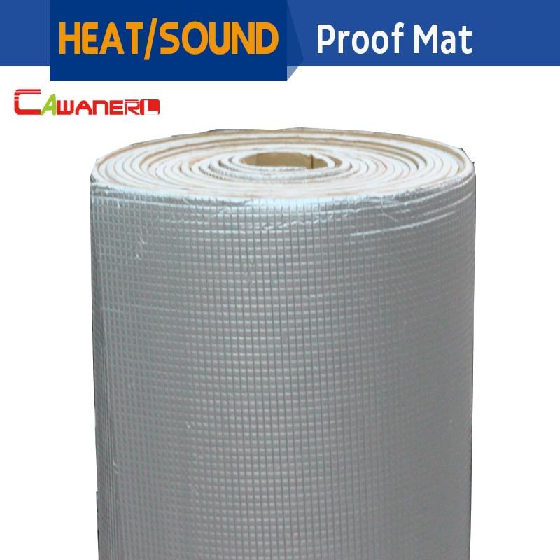 Cawanerl 1 Rollo 1000 CM X 100 CM Aluminio Papel de aluminio Turbo Hood Cortafuegos Sonido A prueba de calor Aislamiento Estera Mat acortamiento