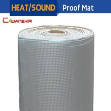 Cawanerl 1 Roll 1000CM X 100CM Aluminum Foil Car Turbo Hood Firewall Sound Heat Proofing Insulation Mat Deadening Deadener