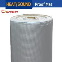 1 Roll 1000cm X100cm Aluminum Foil Car Turbo Hood Firewall Sound Heat Proofing Insulation Mat Deadening