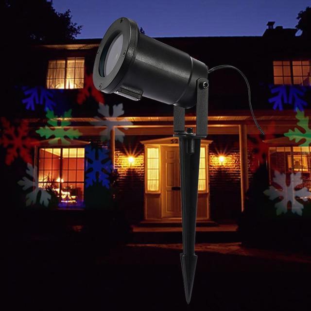 led kleurrijke sneeuwvlok licht projector waterdichte vakantie outdoor verlichting tuin xmas licht indoor night wedding decor