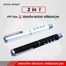 2 в 1 стилус для интерактивная доска стилус для рукописного экрана ручка для PPT Презентация обучение стилус