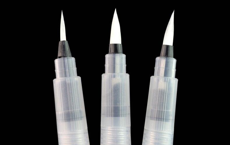 3pcs/set Refillable Paint Water Brush Watercolor Art Paint Brush Self Moistening Calligraphy Pen Small/medium/large Size Art