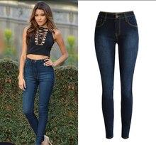 2017 High Waist Stretch Skinny Jeans Women High Quality Slim Deep Blue Jeans Mujer Sexy Push Up Vintage Pantalon Femme Plus Size