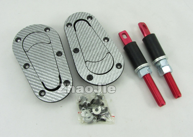 White Carbon Fiber Car Racing Keyless Plus Flush Bonnet Hood Latch Pin Kit Press Lock Plastic Auto no Key Unlversal