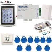 SmartYIBA معدن مقاوم للماء باب نظام التحكم في الوصول + 10 قطعة مفاتيح التعريف بالإشارات الراديوية بوابة فتاحة ماكس تصل إلى 2000 مستخدم قفل للباب بكلم...