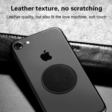 Universal Magnetic Phone Disk For Car Phone Holder 2 Pieces Metal & Leather Iron Sheets Plate Use For Magnet Mount Holder Stand