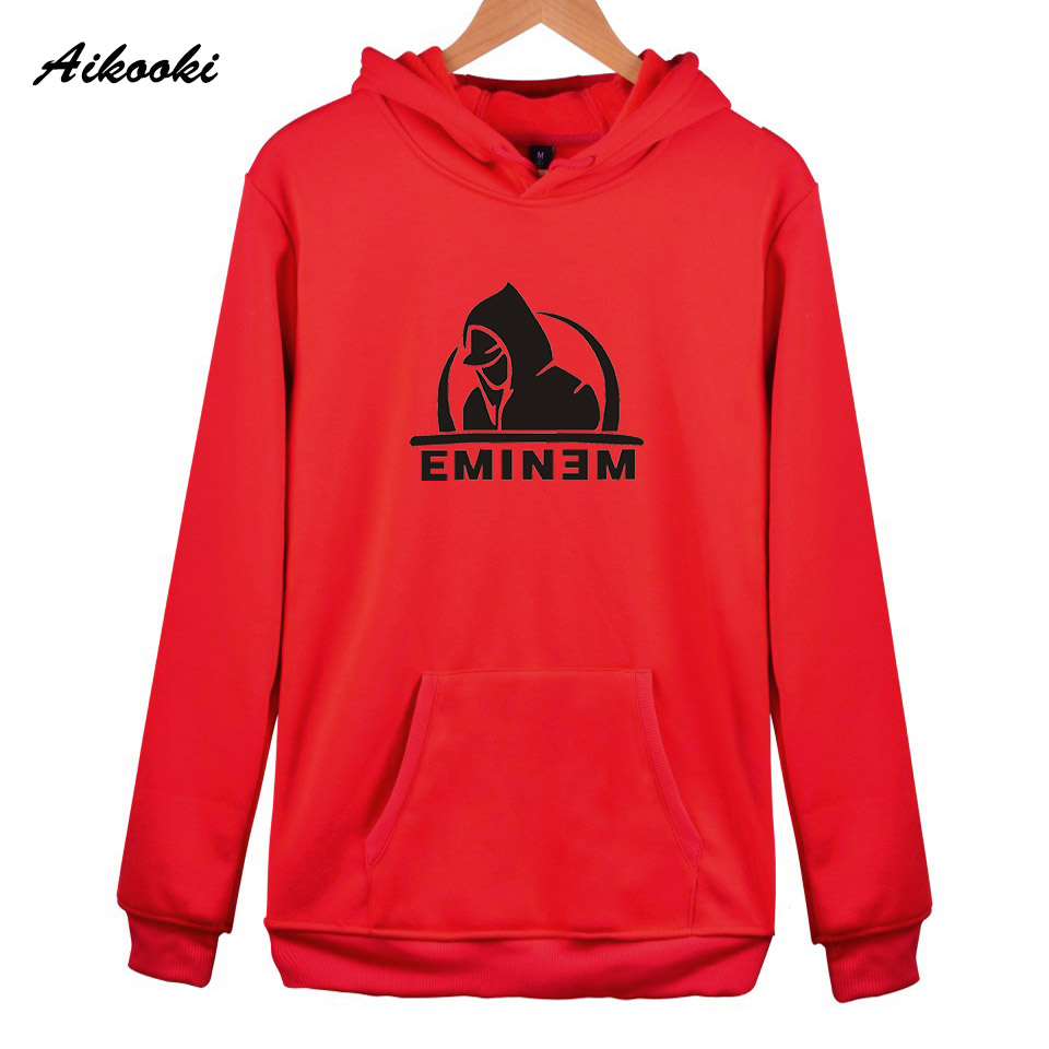 2018 Eminem Hoodies Women/Men Pink High Quality Cotton Eminem Womens Hoodies and Sweatshirt Harajuku Fashion Top Clothes