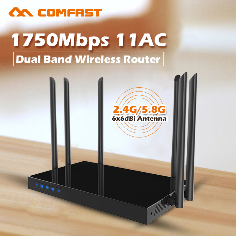 все цены на Wifi signal repeater 5ghz wifi router 11AC 1750Mbps wifi amplifier wireless access point repeater COMFAST CF-WR650AC онлайн