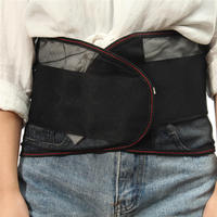 Hot Sale Lumbar Back Waist Spine Support Breathable Mesh Steels Plate Brace Grade Double Pull Strap