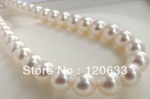 Style diy AAA+ 11-12MM PERFECT WHITE ROUND South Sea Pearl Necklace 18″ necklaces