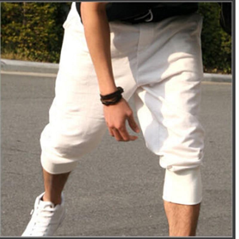 2017 Summer Casual Slim Jogger Pants Men Casual Slim Calf-length Sweatpants For Men Youths Cotton Boys Pantalon