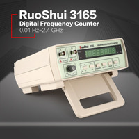 RuoShui 3165 Digital High Precision Radio Frequency Counter Testing Meter 0.01Hz 2.4GHz Frequency Monitor Counter Tester