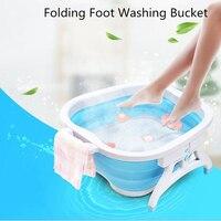 Folding Foot Massage Bucket Foot SPA Health Care Foot Bath Basin Foldable Basin Portable Washtub Creative Foot Tub Bathroom Set