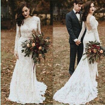 Bohemian Popular color Wedding Dresses 2019 Boho Robe De Mariee Beach Vestido De Noiva Champagne Ivory Bridal Gowns