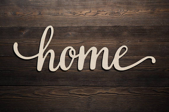 Home Custom Letter Personalized Wood Sign Wooden Name ...