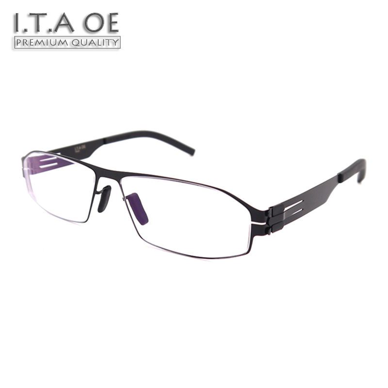 ITAOE Model Arne No Screws Screwless Stainless Steel Men Optical Prescription Glasses Eyewear Frames Spectacles 142mm itaoe model 404 high quality acetate men optical prescription glasses eyewear frames spectacles 141mm